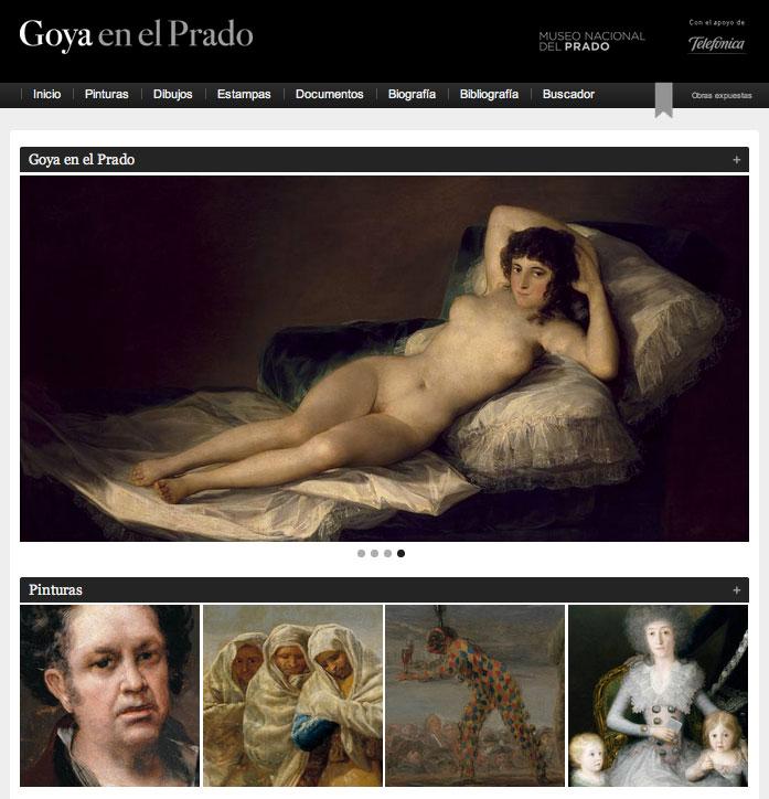 Entrar en la pinacoteca virtual de Goya