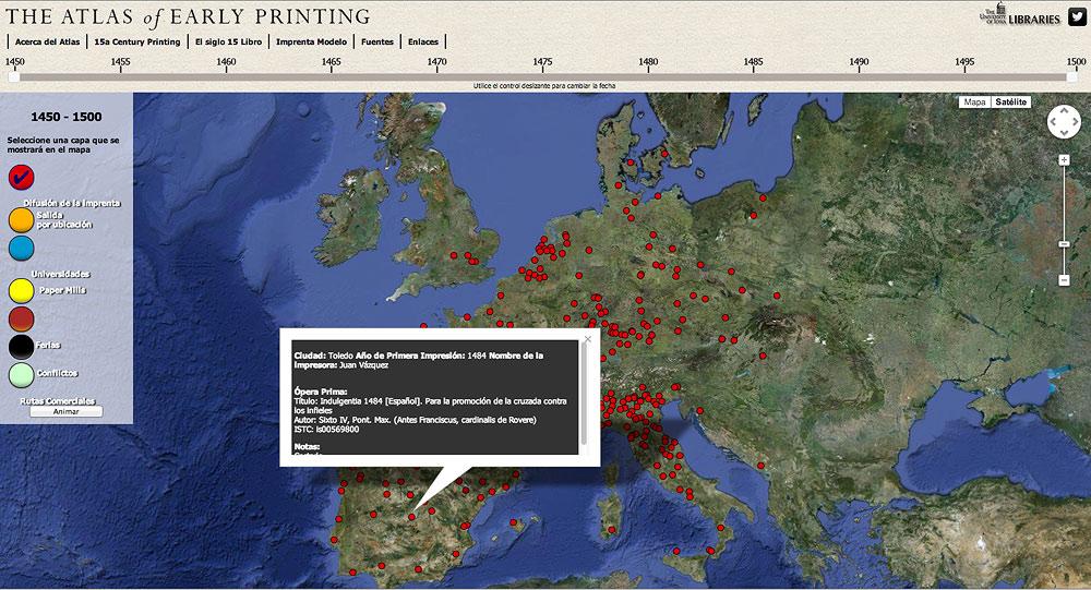 El Atlas de los inicios de la Imprenta